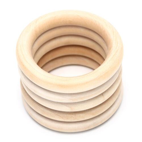 1Bag Natural Wood Circles Beads Wooden Ring DIY Jewelry Making Crafts DIY Sl