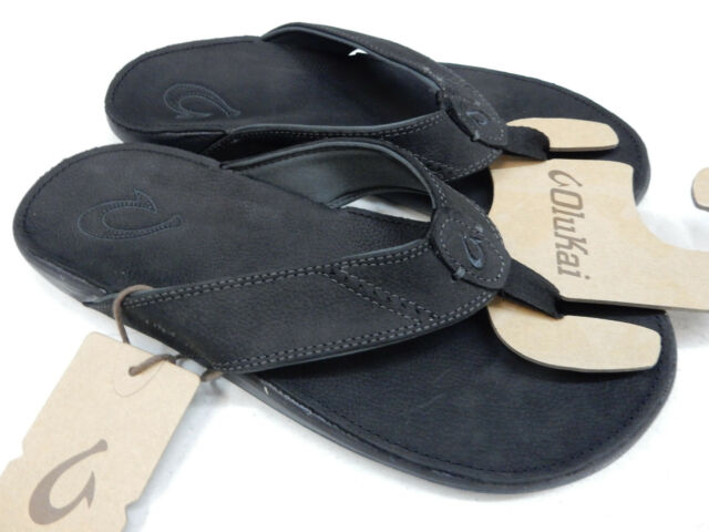 6d73093c46c0 Olukai nui leather sandals in black onyx mens flip flops size ebay jpg  640x480 Olukai nui