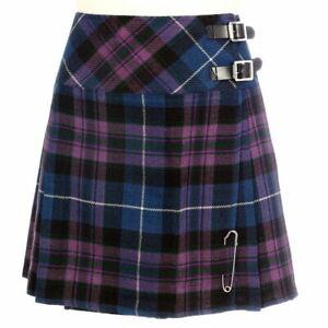 bafa61b453e726 Détails sur Mini Jupe Gratuit Broche Kilt Tailles 6-22uk Pride Of Ecosse  Femmes Billie Kilt