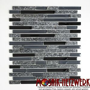 Mosaik-Fliese-Glasmosaik-Natursteinmosaik-mix-grau-schwarz-Wand-Bad-86-0208-b