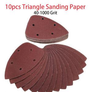 10pcs-Schleifdreiecke-Dreieck-Schleifpapier-Schleifscheiben-fuer-Deltaschleifer