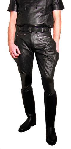 Nouvelle Lederhose Stiefelhose Motorradhose Culotte Leder Schwarz Lederuniform AHngq07Fw
