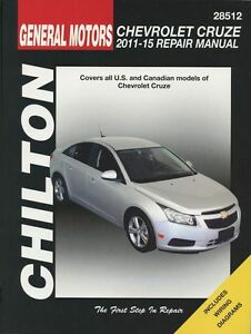 chevrolet cruze chilton repair manual 2011 2015 28512 ebay. Black Bedroom Furniture Sets. Home Design Ideas