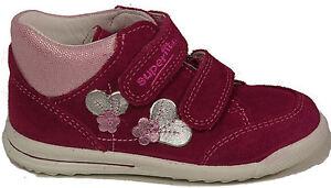 SUPERFIT-Schuhe-Stiefel-echt-Leder-Pink-Rosa-Klettverschluss-Lauflernschuhe-NEU