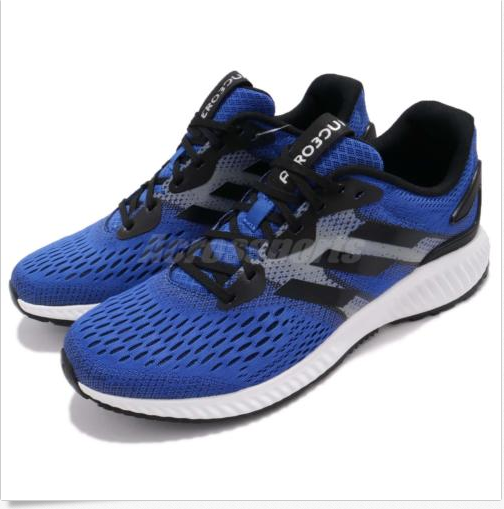 80f75fb66a195 adidas Aerobounce M Blue Black Men Men Men Running Shoes Sneakers Trainers  CG4654 Sz 12 89af26 ...