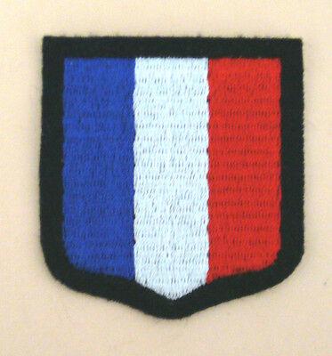 """Ecusson de bras tricolore """"France"""" WH élite WW2 REPRO"""