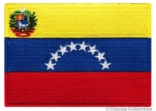 VENEZUELA FLAG embroidered iron-on PATCH VENEZUELAN SOUTH AMERICAN EMBLEM