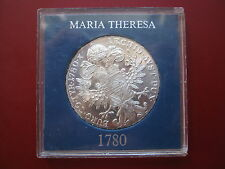 Austria 1780 Maria Theresia Theresa Thaler Re-strike .833 silver Top Grade cased