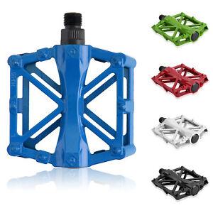 1Par-Nuevo-Aluminio-Pedales-Plataforma-Para-Bicicleta-Ciclismo-MTB-BMX-9-16-034