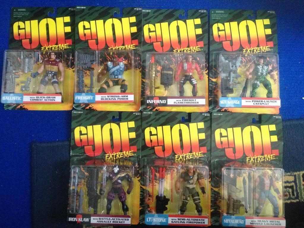 G.I. Joe Extreme Iron Klaw Set of 7 Carded Figures
