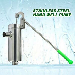 Stainless Steel Manual Water Pump Hand Shake Suction Pump for 32mm ...