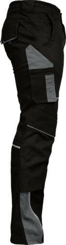 LEIB WÄCHTER Flex-Line Arbeitshose Bundhose Premium schwarz-grau mit Spandex