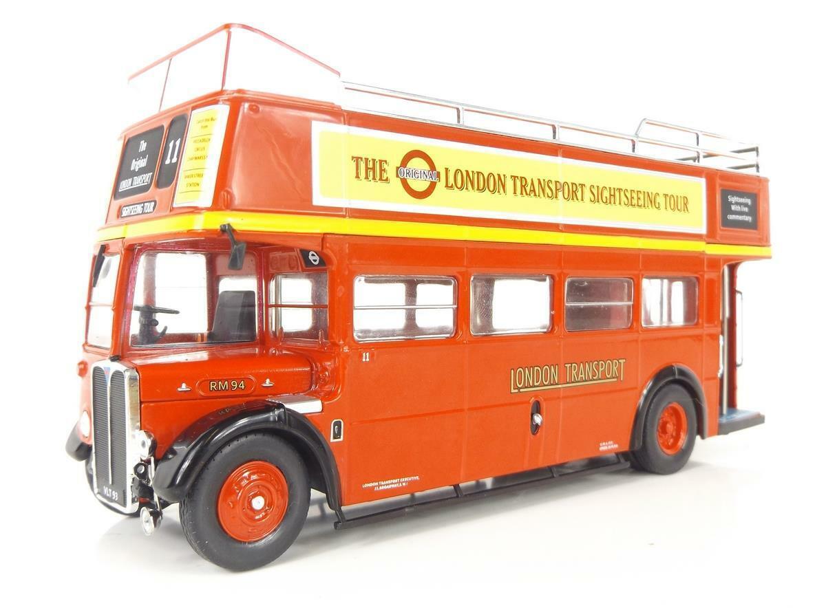 IXO Models BUS018 AEC Regente RT Open Top Londres transporte Rojo 1950 1 43 Escala