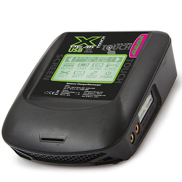 CARICA BATTERIE X-PEAK TOUCH SCRREN USB 2L BILANCIATORE BATTERIA DISPLAY LCD AC