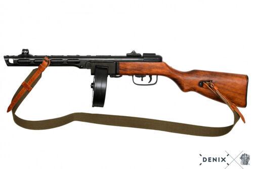 Fucile mitragliatore PPSh-41 Unione Sovietica 1941 reenactor in metallo e legno