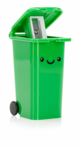 Bleistiftanspitzer Mülltonne Wheelie bin green Anspitzer mit Tonne Grüne Tonne