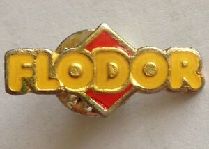 Flodor-Chips-amp-Snacks-Brand-Small-Lapel-Pin-Badge-Rare-Vintage-F9