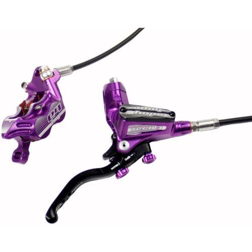 HOPE TECH 3 E4 violet//Gauche Avant Avec Noir Tuyau de frein avec Flottant Rotor-Neuf