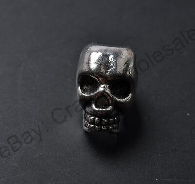 10pcs Tibetan Silver Charms Skull Loose Spacer Beads 12X8MM CA810