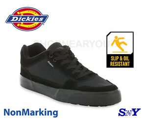 s black slip resistant work safety shoes non marking