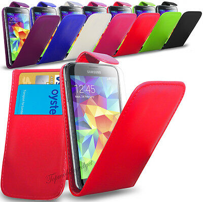 Samsung Galaxy Core Prime G360 - Leather Flip Case Cover & Free Screen Protector