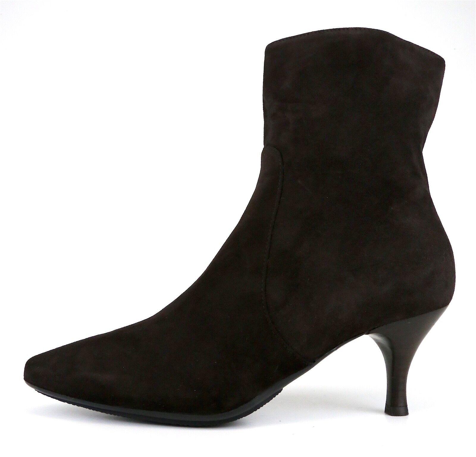Aquatalia By Marvin K. Side Zip Suede Ankle Boot Brown Women Sz 9.5 5272