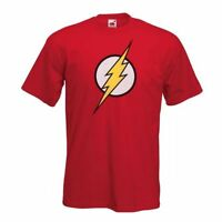 FLASH T shirt - Mens New Classic Comic Super Hero Big Bang Theory Sheldon