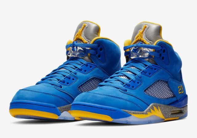 super popular 8d3df 2025c Nike Air Jordan Retro 5 Laney JSP Shoes Varsity Royal Blue CD2720-400 Men's  NEW