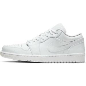 Nike-Air-Jordan-1-Low-White-Multi-Size-US-Mens-Athletic-Running-Shoes-Sneakers