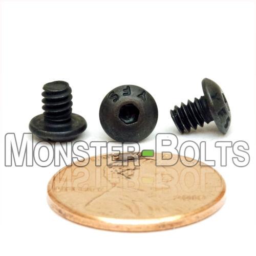 "#6-32 x 3//16/""  Button Head Socket Cap Screws SAE Alloy Steel Thermal Black Oxide"