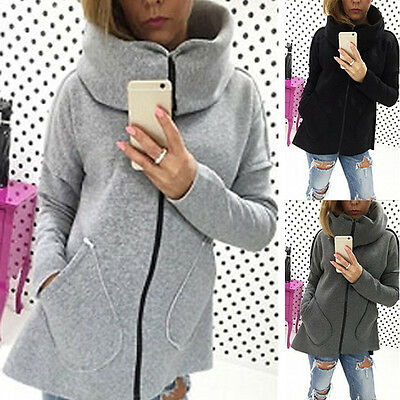 Women Winter Long Sleeve Hooded Hoodie Jacket Coat Sweater Outwear Sweatshirt