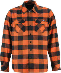 Dickies-Men-039-s-OR-Orange-Plaid-Sacramento-L-S-Flannel-Shirt-Retail-44-99