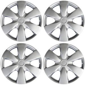"4 Pc Set of 15"" Inch Silver Hub Caps Full Lug Skin Rim Cover for OEM Steel Wheel 840345107503"