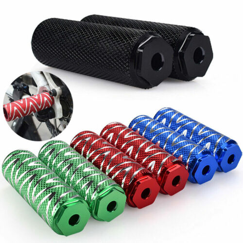2 Stücke BMX MTB Stunt Roller Pegs Aluminiumlegierung Fahrrad Achse Fuß 4 Farbe
