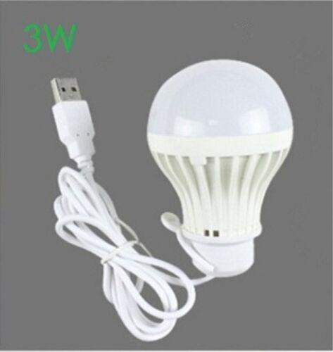 5V low-voltage light led energy-saving rechargeable emergency bulbs 7W USB bulb