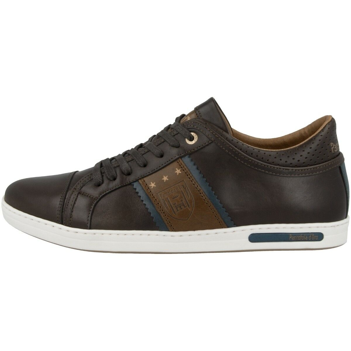Pantofola d Oro Marinella Uomo Low Schuhe Freizeit Sneaker coffee 10183021.IKU