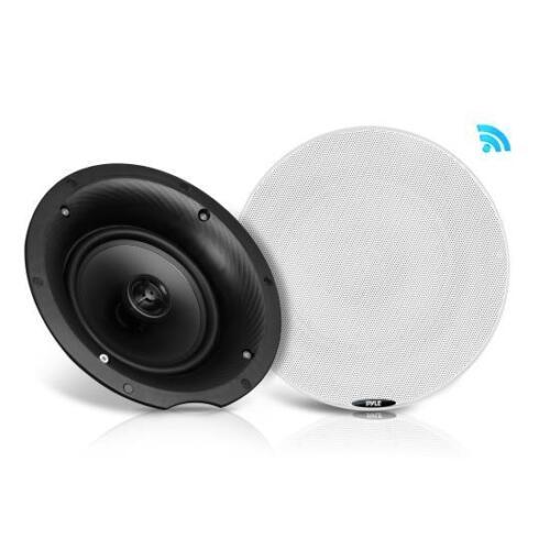 Flush Mount 2-Way 2 Dual 6.5'' Bluetooth Ceiling In-Wall 300 Watt Speaker Kit