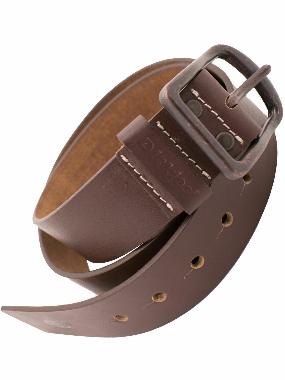 Dickies Herren Gürtel Helmsburg Brown Braun Belt Leder Ledergürtel 5038
