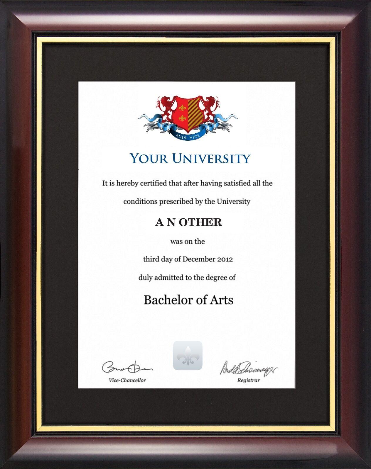 Abschluss Grad Zertifikat Displayrahmen - traditioneller Stil