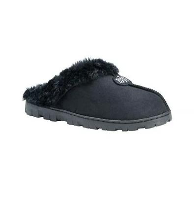 Small 5/6 100% Original Black United Muk Luks Women's Faux Fur Lined Memory Foam Clog Slippers