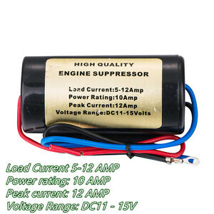 12V 10A Car Noise Engine Filter Killer Hum Tool For Off-Road Stereo ... 1547653ddba3