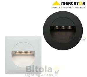 NEW-MERCATOR-RYE-1-2W-LED-RECESSED-WALL-STEP-LIGHT-SQUARE-ROUND-STAIRCASE