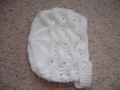 Brand New Hand Knitted Baby Bonnet # SUPER #
