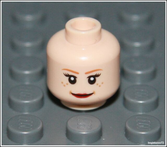 Lego Indiana Jones x1 Flesh Head Freckles Scared Female Girl Minifigure NEW
