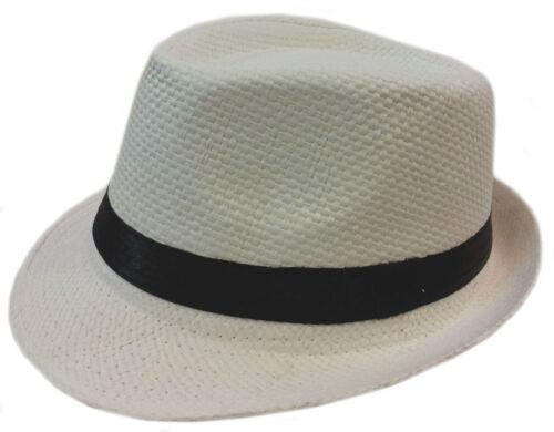FEDORA TRILBY GANGSTER FEDORA BUCKET HAT MEN WOMEN PAPER STRAW  HAT CAP SOLID
