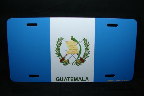 GUATEMALA FLAG NOVELTY LICENSE PLATE FOR CARS  Pabellón Nacional  Azuliblanco