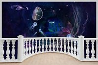 Huge 3D Balcony Fantasy Underwater Wall Stickers Wallpaper Mural 685