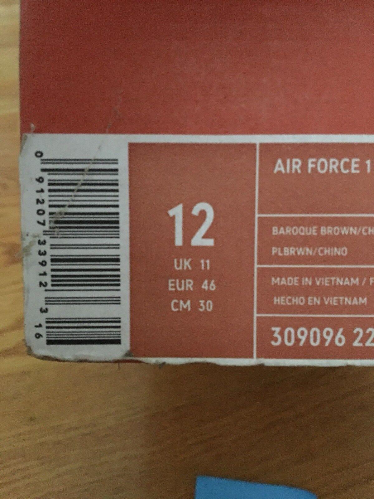 la force aérienne 2005 communiqué communiqué communiqué de euro 1 baroque Marron  sz 12 af10fe