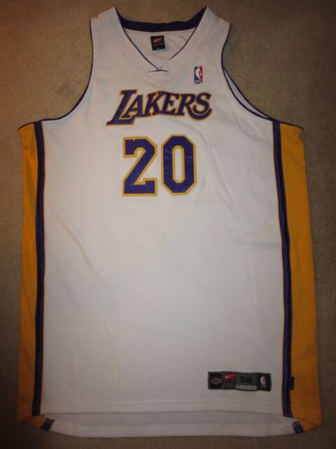 9b66a9b77bb Gary Payton #20 Los Angeles Lakers Nike Dri-Fit Sunday White Jersey 56 3XL