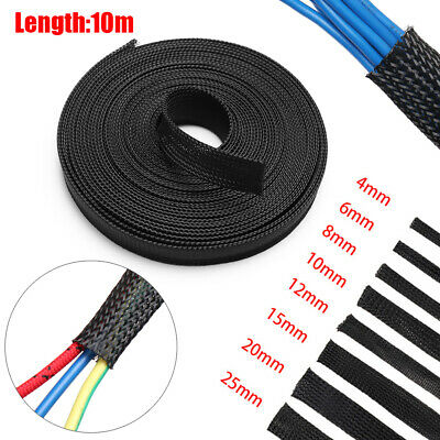 12mm Tight braided PP PET Expandable Sleeving 8M 26Ft